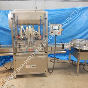Ointment Jar Piston Filling Machine