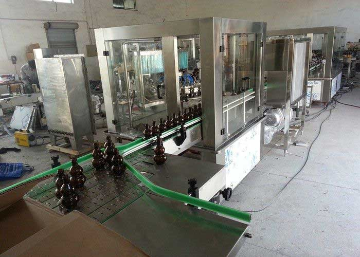 Anti Explosion Wine Beer Bottle Filling Machine, Commercial Bottling Equipment