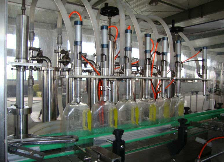 Automated Olive Oil Filling Machine, Glass Bottling Equipment