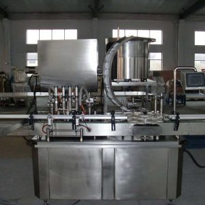 Servo Viscous Filler With Capper Machine For Peanut Butter, Petroleum Jelly, Paste, Tomato Sauce