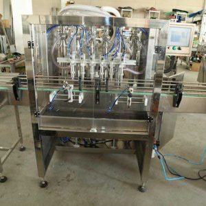 Full Automatic Liquid Bottle Linear Filling Machine, Oil Tin Can Filling Machine