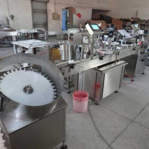Bottle Unscramble, Bottle filling, Plugging, Capping machine, Labelling machine