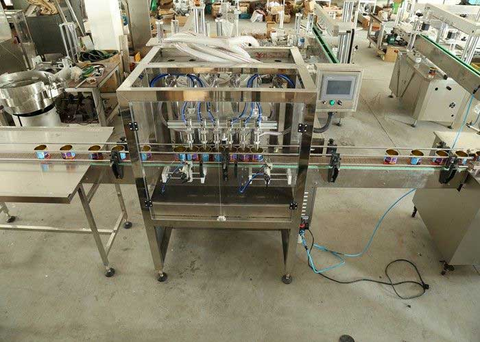 Viscous Pneumatic Filling Machine - Liquid Viscous Filler for Bottle , Jar