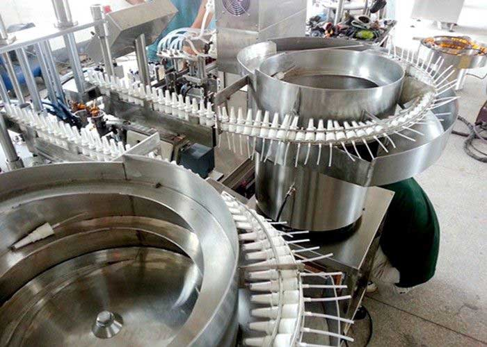 Rotary Piston Pump Small Bottle Filling Capping Machine