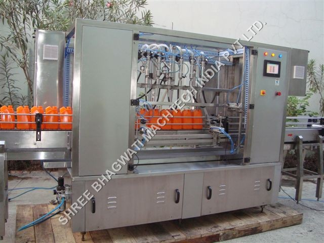 Flat Bottle Liquid Filling Machine 3