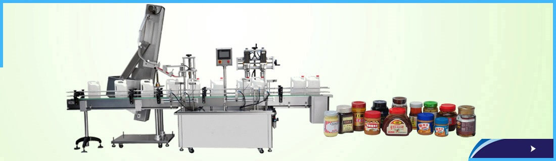 Inline capper with cap feeding automatic systems for large size jar