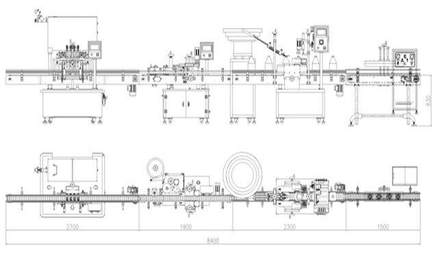Piston Viscous Filling Machine Layout